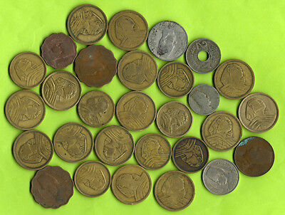 Egypt 29 Old Coins Lot