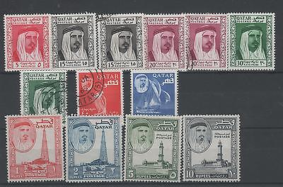 Qatar 1961 Mint & Used Stamps Including High Values.