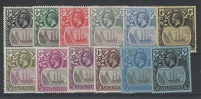 Ascension King George V  1924-33 Mint Set 12.
