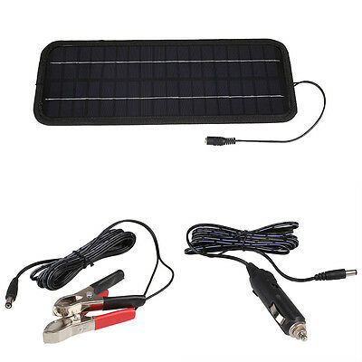 12V 4.5W Smart Solar Power Panel Car Motorcycle RV Boat Batteries Bank Charger