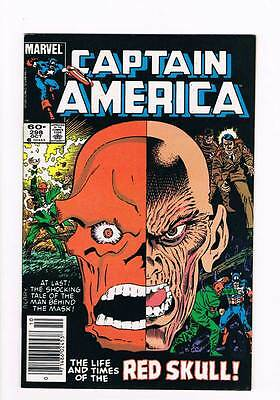 Captain America # 298 The Life and Times of the Red Skull ! grade 8.5 hot book !