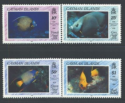 Cayman Islands 1990 Angelfishes  MNH