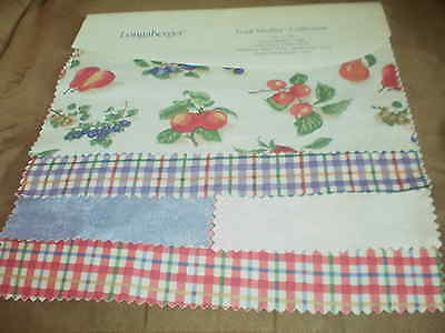 Longaberger Fabric Swatch Board - Fruit Medley Collection