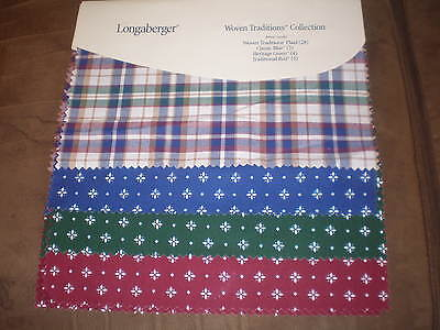 Longaberger Fabric Swatch Board - Woven Traditions Collection