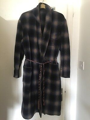 Jaques Of London True Vintage Smoking Jacket Dressing Gown XL 52""