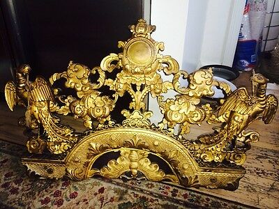 Chinese Chippendale Carved Gilt Wood Pediment Architectural Arch Antique