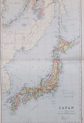 Map of Japan. 1892. Bacon Atlas. ASIA.