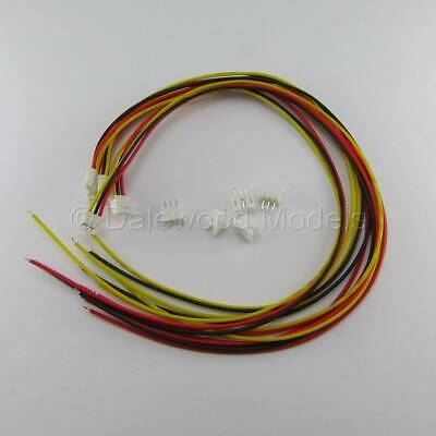 5 Sets JST PH 2.0mm 3 Pin Male-Female Connector Plug Wires Cables 300mm