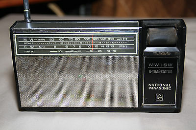 National Panasonic AM SW 8 Transistor Radio R-207R (1971) Made in TAIWAN