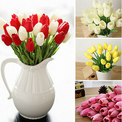 6pcs Tulip Fiore Artificiale Festa Di Matrimonio Latex Bouquet Casa