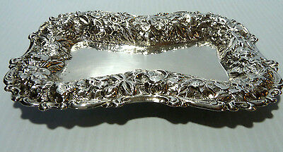 Sterling Silver Repousse Vanity Or Jewelry Tray, Simons Of Philadelphia