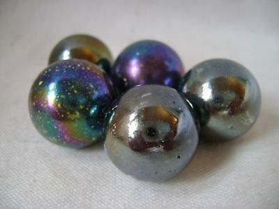 NEW 5 JUPITER 22mm GLASS MARBLES TRADITIONAL GAME or COLLECTORS ITEMS HOM