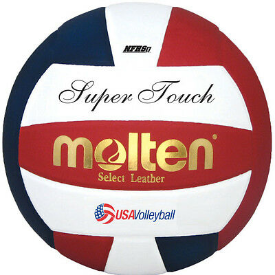 Molten Super Touch High School Approved Volleyball - Red/White/Blue