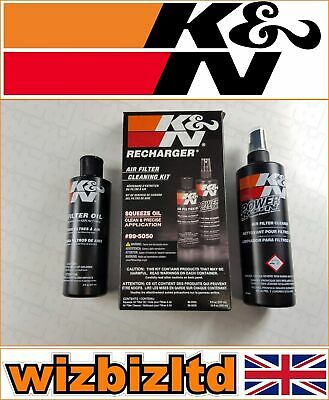 Motorcycle K&N Air Filter Cleaner and Re-charger Service Kit (Squeeze) KN995050