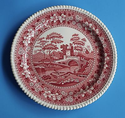 """Copeland Spode Spode's Tower 15"""" CHOP PLATE Pink OLD MARK XLarge Round Platter"""