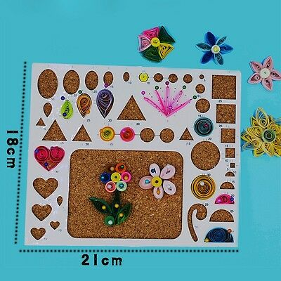 1 X Paper Quilling Board Cards Mould Template Woodware Scrapbooks Craft DIY Tool