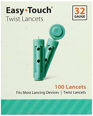 Easy Touch Twist Lancets 32 Gauge 100 Lancets