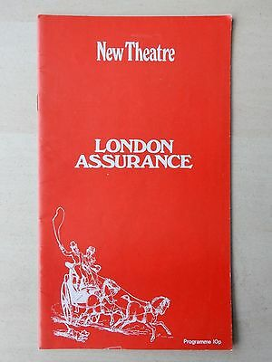 1970 - New Theatre Playbill - London Assurance - Donald Sinden