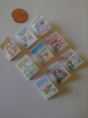 Dollhouse Miniature Books  Laura Ingalls Little House books complete set of 9