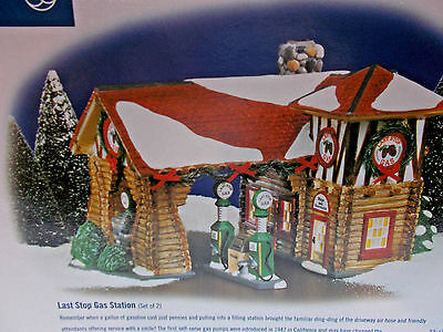 DEPT 56-55012 LAST STOP GAS STATION NEW c