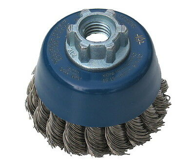 Stainless Steel Wire Cup Brushes. Crimped or Twisted Knot. Inox Wire.