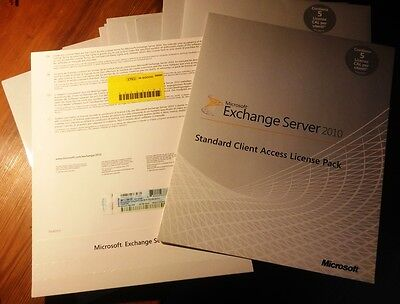 Microsoft Exchange Server 2010 Standard Client Access License MLP pack 5 CAL