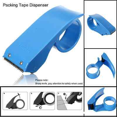 New 50mm Tape Sellotape Dispenser Heavy Duty Hand Parcel Box Packing Cutter Roll