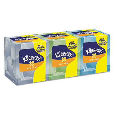 Boutique Anti-Viral Facial Tissue, 3Ply, Pop-Up Box 21286CT