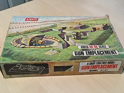Boxed Vintage (1970s) Airfix 1/72 HO-OO Gun Emplacement