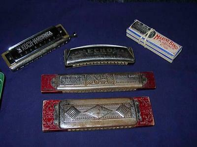 (5) Vintage German Harmonica's - KOHNER & KOCH - preowned musical instruments