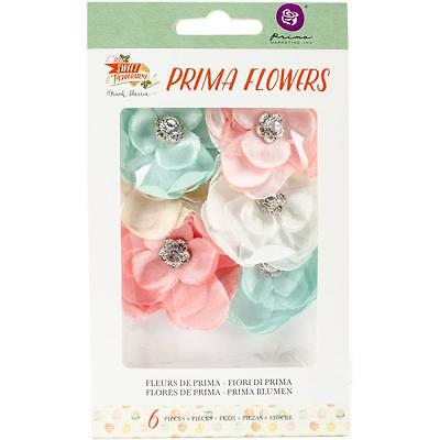 Prima Marketing Sweet Peppermint Flowers Christmas Morning Textil Blüten 6/Pkg