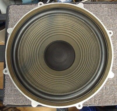 """( ONE )Wharfedale 15"""" Speaker Woofer Rubber Surround W70E Model 3802 TESTED GOOD"""