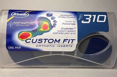 Dr Scholl's CF 310 ~ ORTHOTIC INSERTS Custom Fit Footmap Foot Sole Shoes Scholls