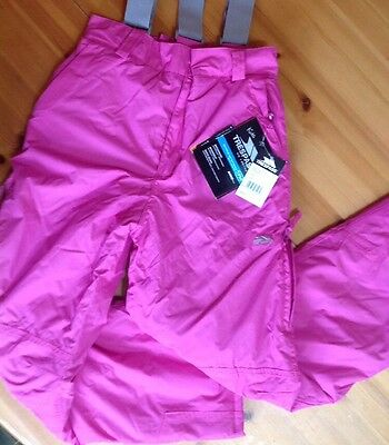 BNWT Kids Trespass NANDO Ski Pant/Trousers, Girls Age 3/4, Waterproof Windproof