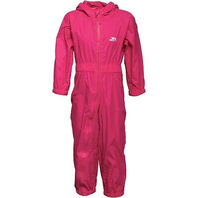 BNWT Trespass Infant (6 - 12 months) Girls All In One Rainsuit Pink, Breathable