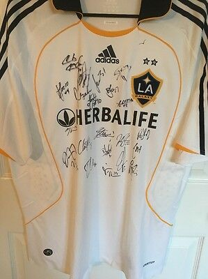 LA Galaxy MLS Beckham Donovan Player Issue Team Signed Autographed Jersey