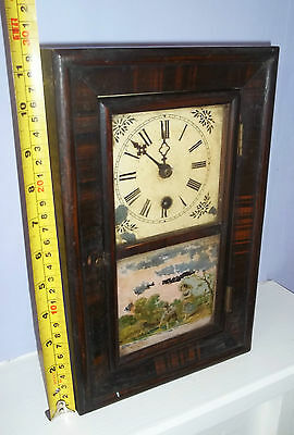 Very Nice Small 'Congress Clock Co' Mantle Clock. American?