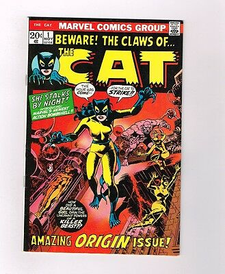 THE CAT #1 Super Bronze Age find from Marvel Comics! Grade 9.0!!