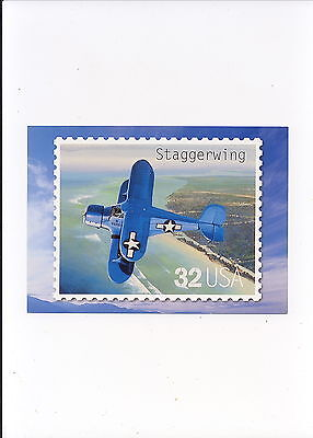 Us Postal Service Postage Stamps Postcards   Staggerwing