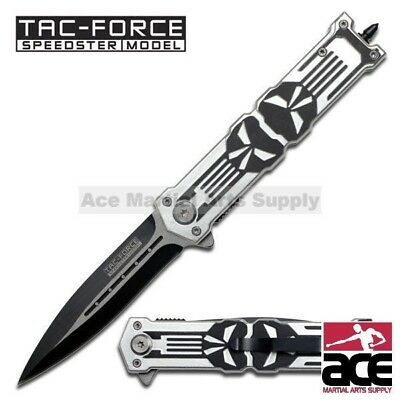 "8.25"" TAC FORCE PUNISHER SPRING ASSISTED TACTICAL KNIFE Blade Folding Pocket"