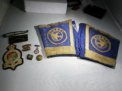 WWI WWII British Army Officer Patches Insignia Badges and Cuffs Gauntlets