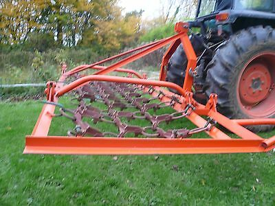 Tractor Mounted Folding Grass and Levelling Harrows