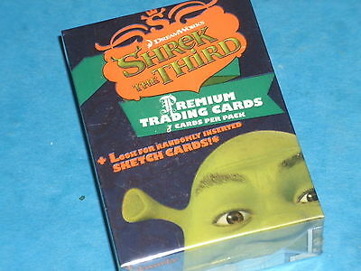 SHREK The Third Complete Set Of 72 Trading Cards Donkey,Princess Fiona,Ogre