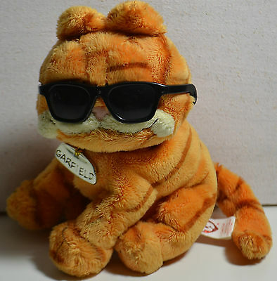 Rare Official Garfield The Movie Soft Toy By Ty / Cool Cat /  Shades & Collar