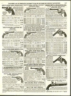 Antique Revolvers Ads-Colt Navy/army/smith & Wesson Police/military+++