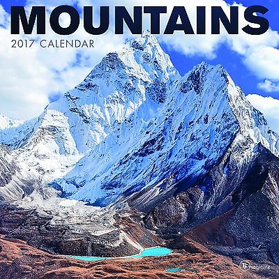 Mountains - 2017 Wall Calendar - Brand New - Scenic 386992