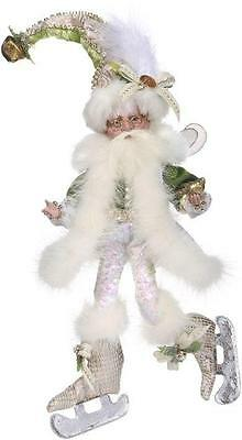 """NEW Mark Roberts 11"""" Ivory and Green Ice Skating Fairy Christmas Figure 51-68586"""