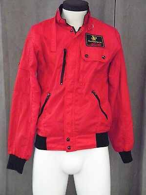 Vintage John Player Special - JPS - Racing Jacket - Red with Black Trim - Small