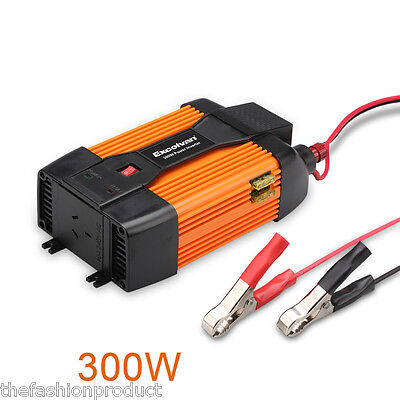 12V DC - AC 230V Car Auto Vehicle Power Inverter Adapter Converter Charger 300W