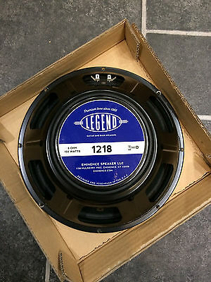 "Eminence Legend 1218 12"" 150w 8ohm guitar speakers. Set of 2"
